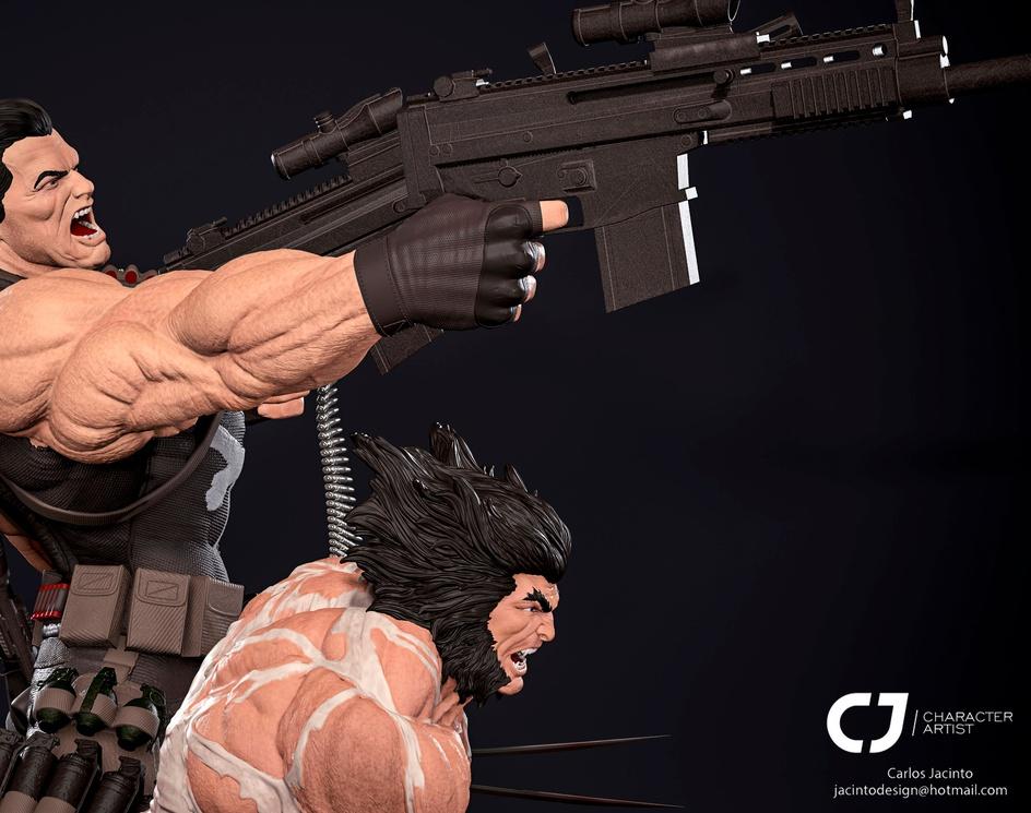 Diorama Wolverine N Punisherby chsjacinto