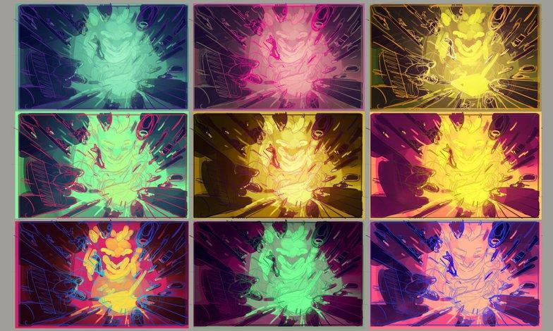 colour schemes palettes sketches experiments 2d