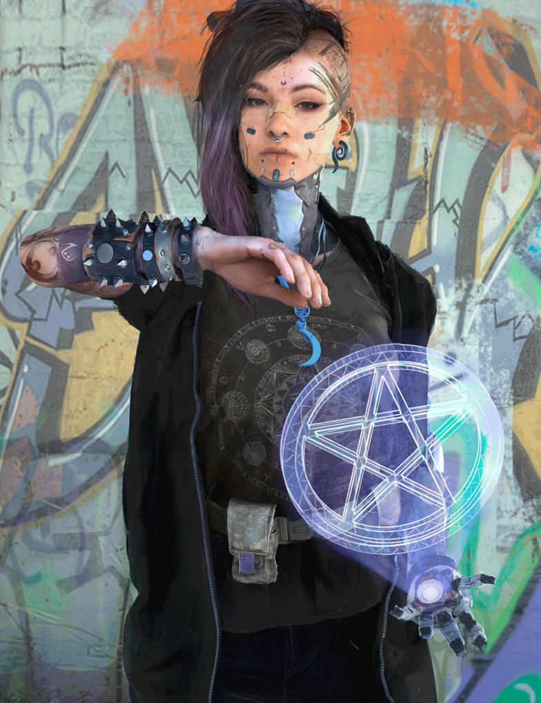 cyberpunk female character 3d design
