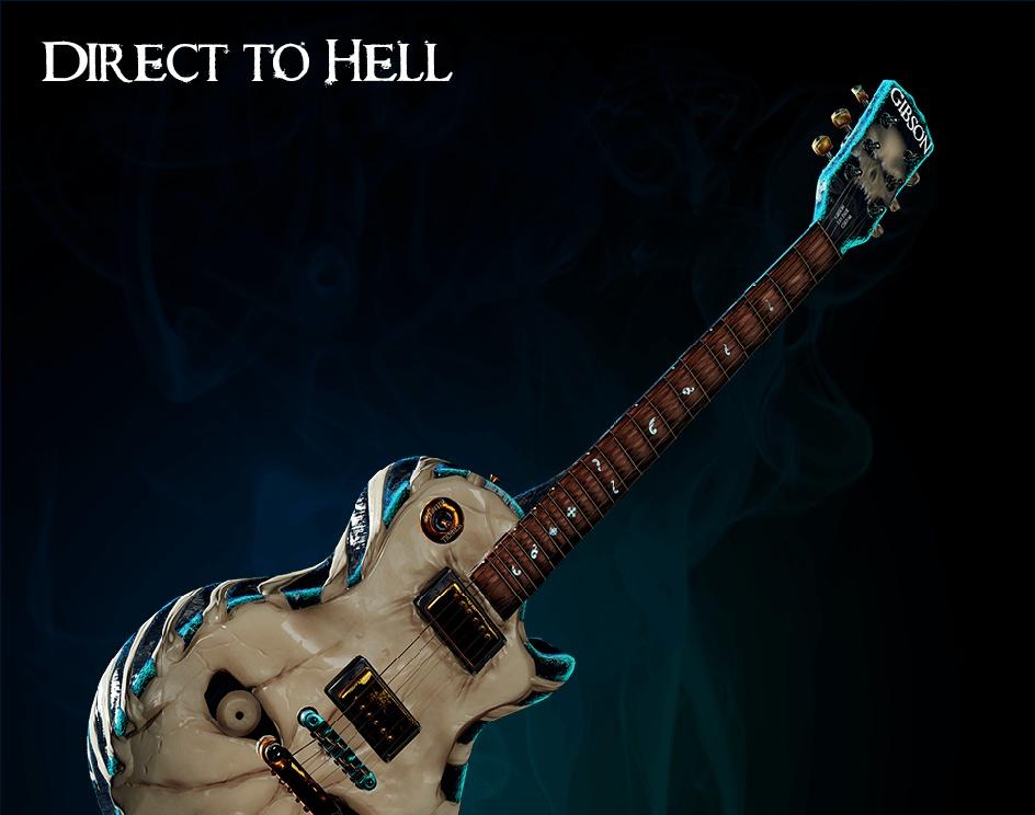 """Direct to Hell"" Challenge Sketchfab: Gibson Les Paul Customby Sebastián Díaz Castro"