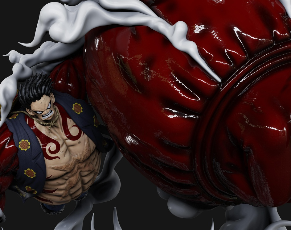 Fan Art - One Piece - Monkey de Luffy Gear 4by Anthony Espericueta Rivera