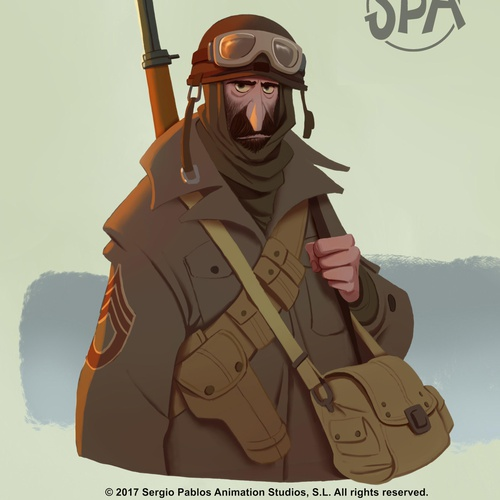 2d illustrated army soldier us