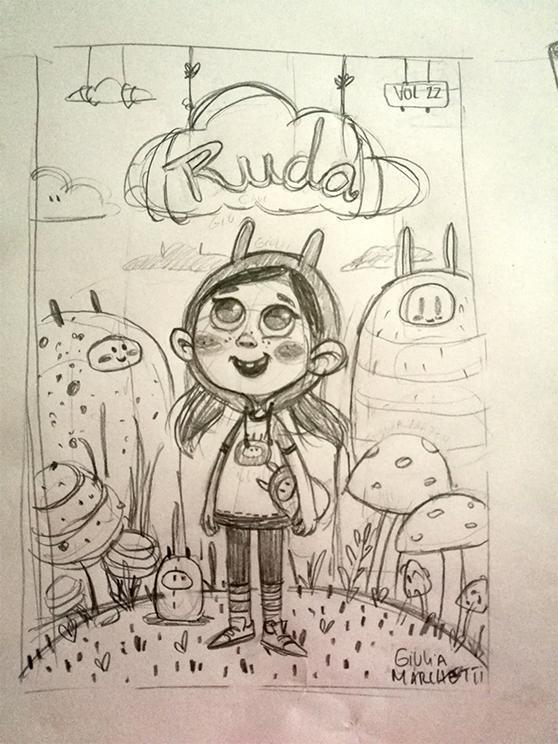 Giulia Marchetti childhood 3d cartoon concept sketch