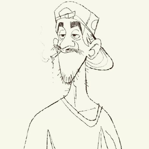 concept stoner illustration 2d character design