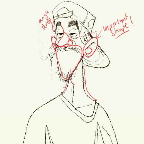 concept stoner illustration 2d character design  draft