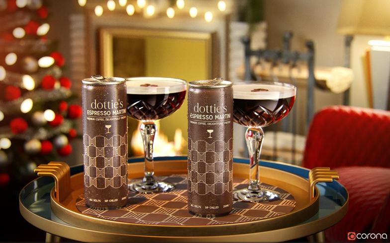 espresso martinet drink alcohol 3d render model