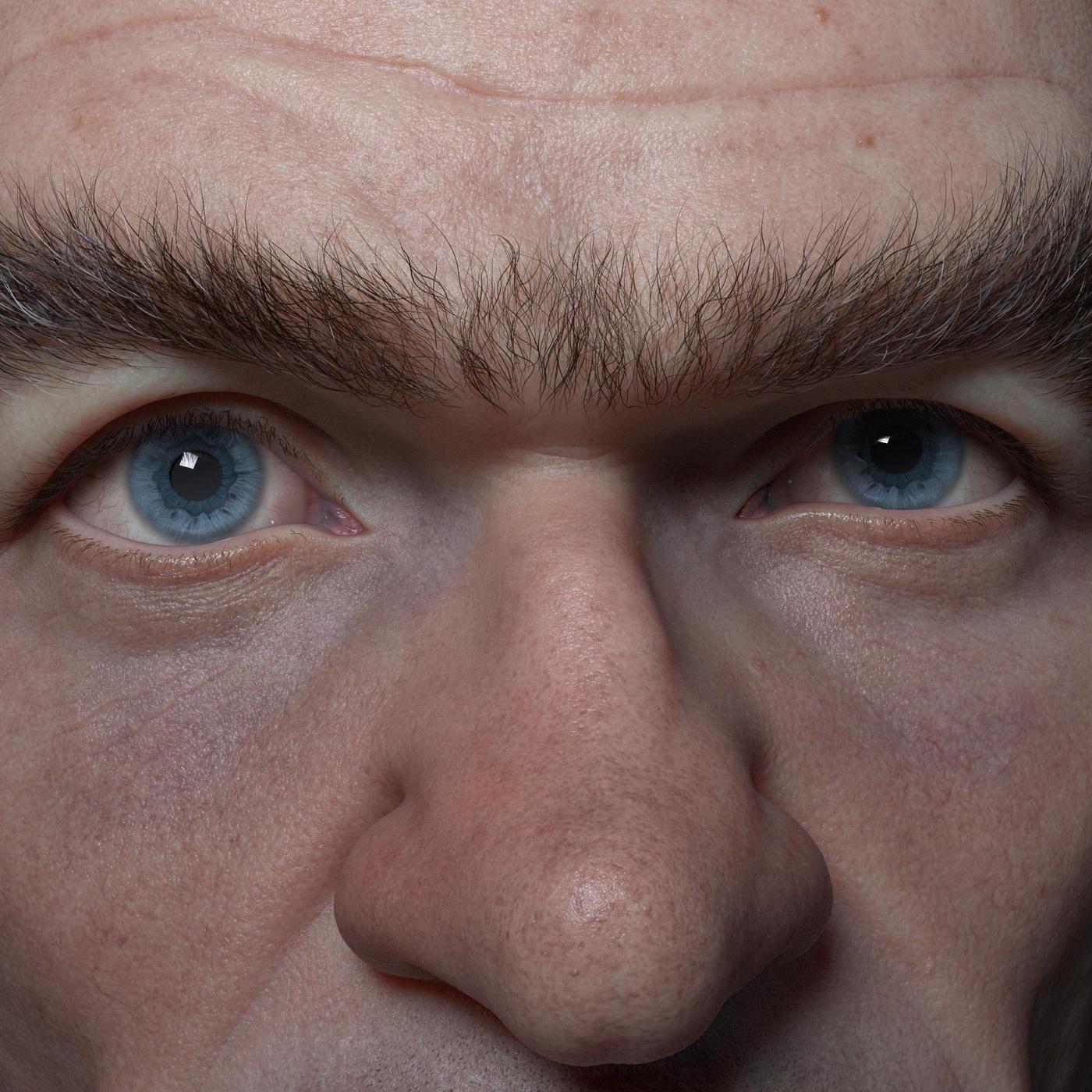 compositing render 3d profile close up detailing shape