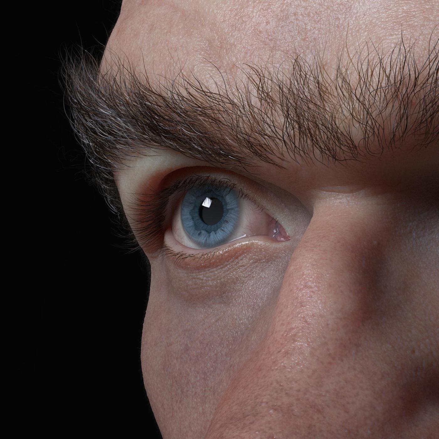 realistic eye iris character design model render 3d