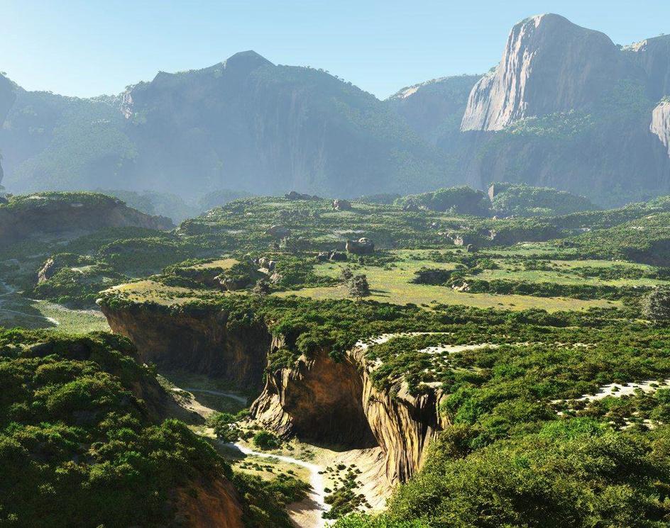 Cracked valleyby Luigi Marini
