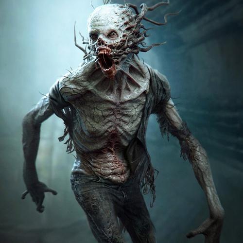 crank zombie fungal design render horror model the scorch trials