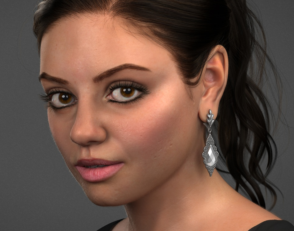 Female Portrait(Mila Kunis) Likeness Studyby Fiaz Shaikh