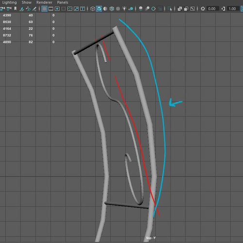 curvature 3d setting modelling