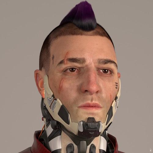 Cyberpunk 2077 male 3d fanart