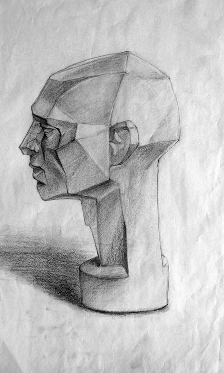 sketch 2d rough drawing illustration pencil design head sculpt