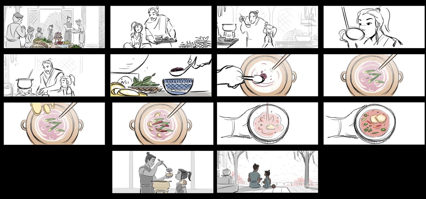 2d illustration storyboarding model render animation rough