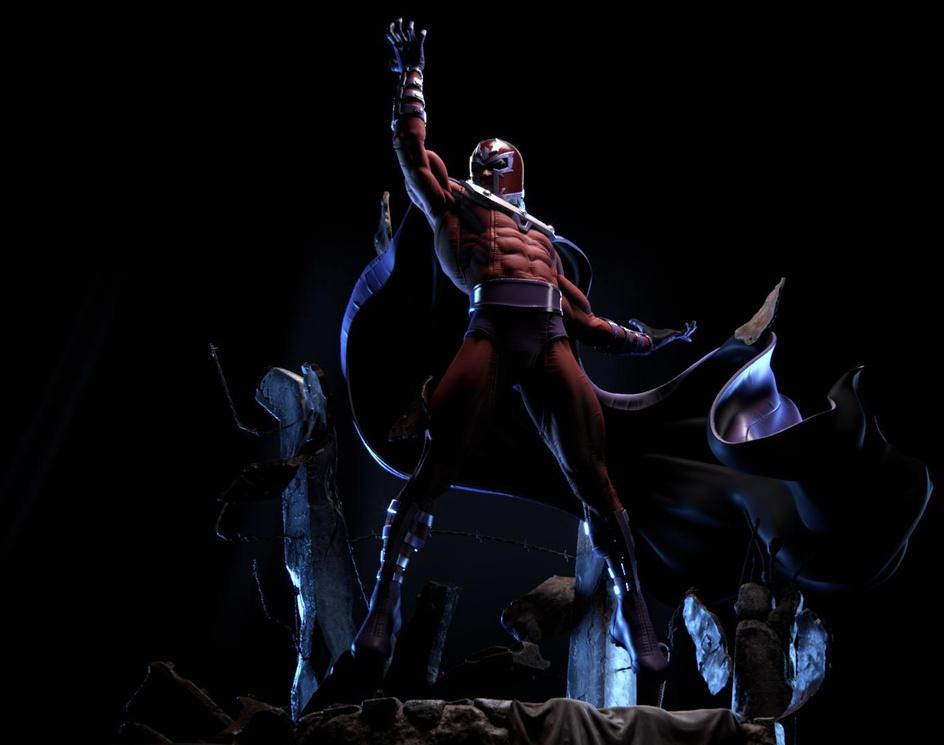 Marvel Magneto_Fan Art for 3D Printby Daniel Bel