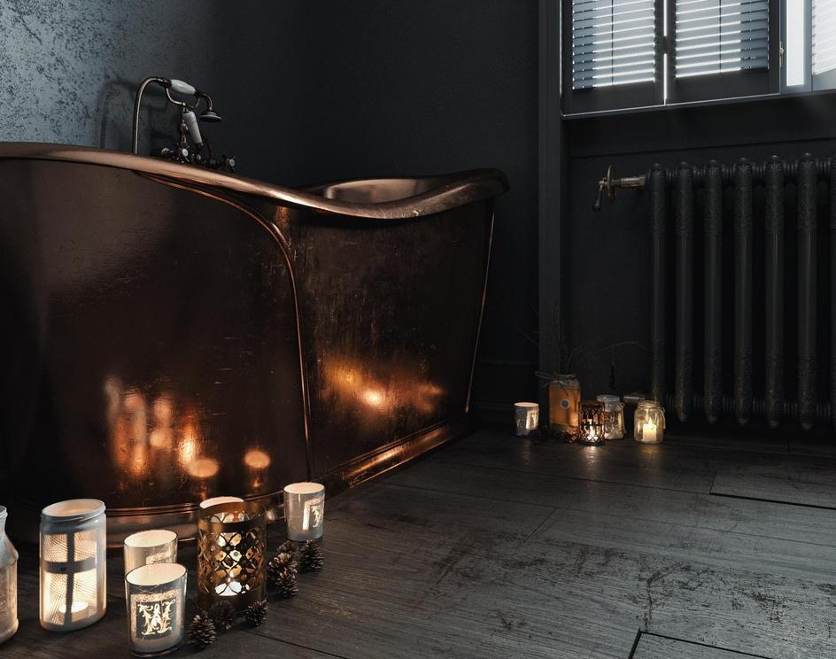 Dark Retro Bathroomby mxlancer