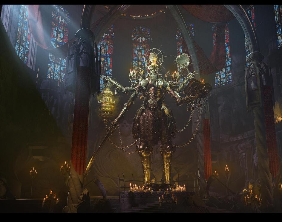 Dark temple Shrine Statueby AlbertRP