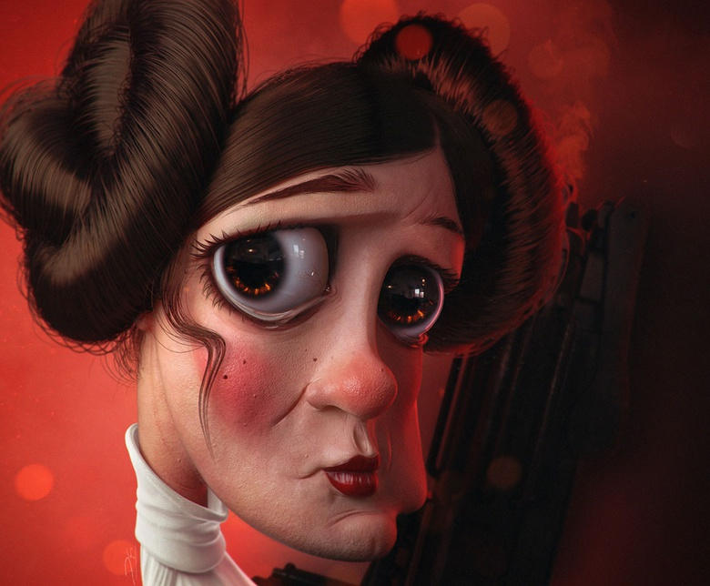 Fan Art  Leia /Star Wars