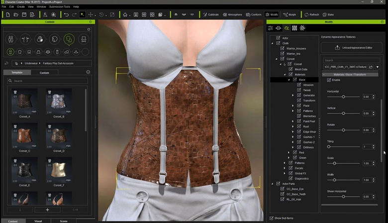 Dynamic texture editing using Allegorithmic Substance technology