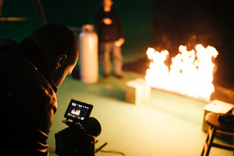 BTS: Rodolphe Pierre-Louis on set filming Fire elements with the RED Epic Dragon