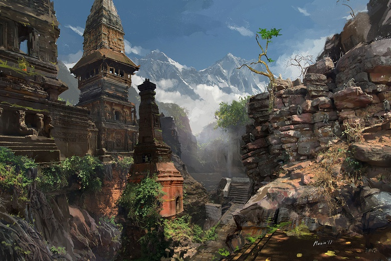 My personal project. An environment concept art based on Indian mythology and inspired by my trips around India especially to the Himalayas