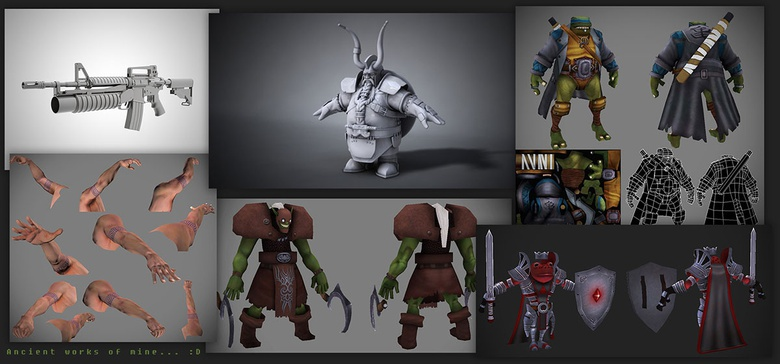 My very first portfolio which I used to apply for a job in game development.. fun times