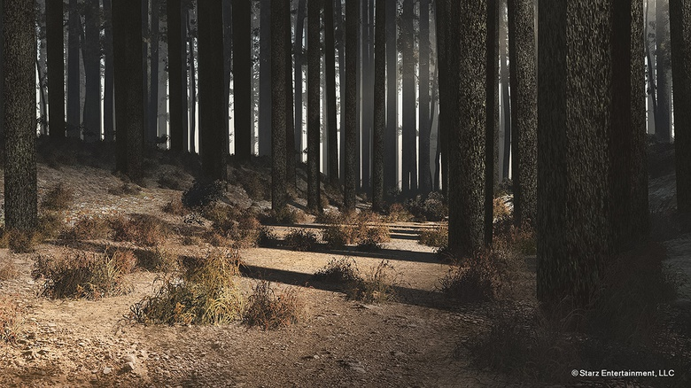 Here we see a later concept of the forest, closer to what we see in episodes 3 and 4 of season 2