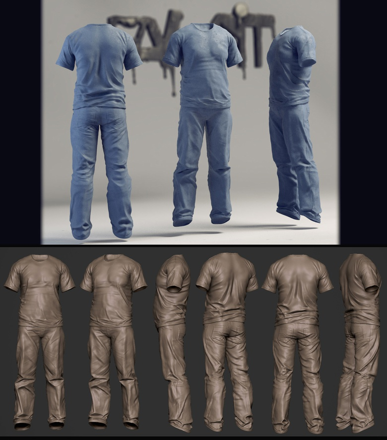 Cloth sculpting study-exercise