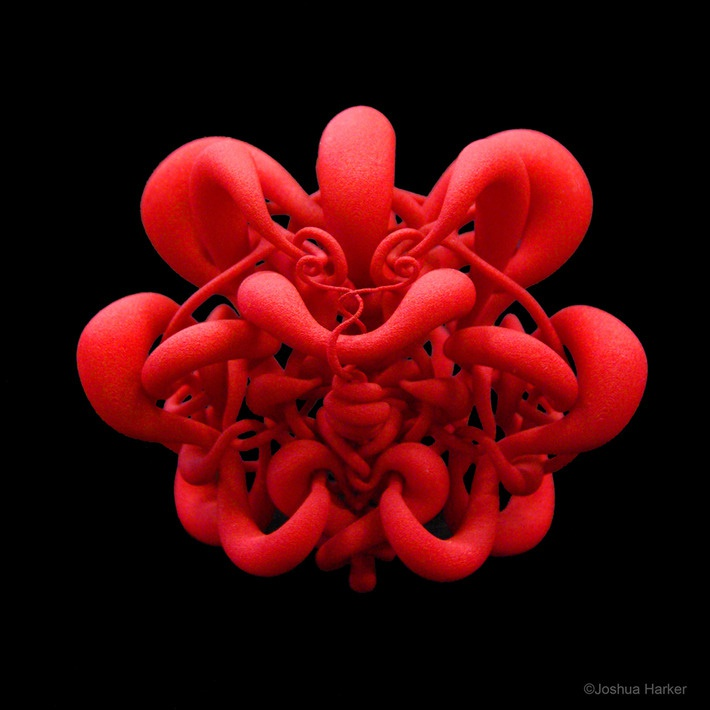 Joshua Harker's 3D-printed sculptures have appeared in countless publications and press worldwide