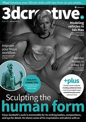 3dcreative magazine: January issue sneak peek! · 3dtotal · Learn
