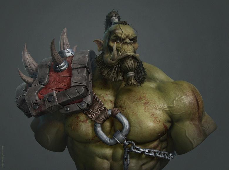 Fan art of Blizzard's Orc