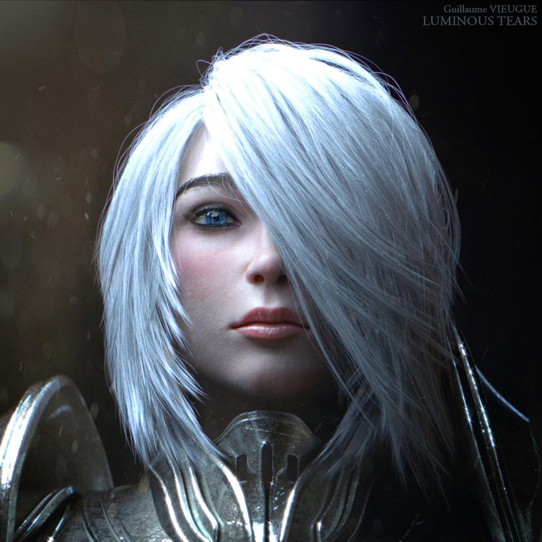 The Knightess - Luminous Tears : done for a future short movie
