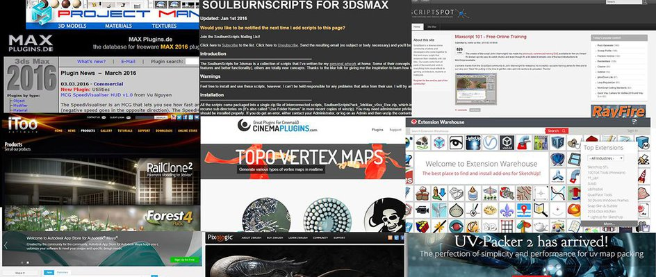 Top 10 places for free 3D scripts, plugins & resources