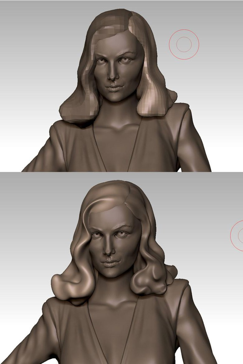 Starting the sculpt at a lower resolution then slowly adding resolution as needed