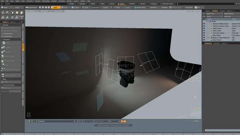 Lighting set up in MODO with background