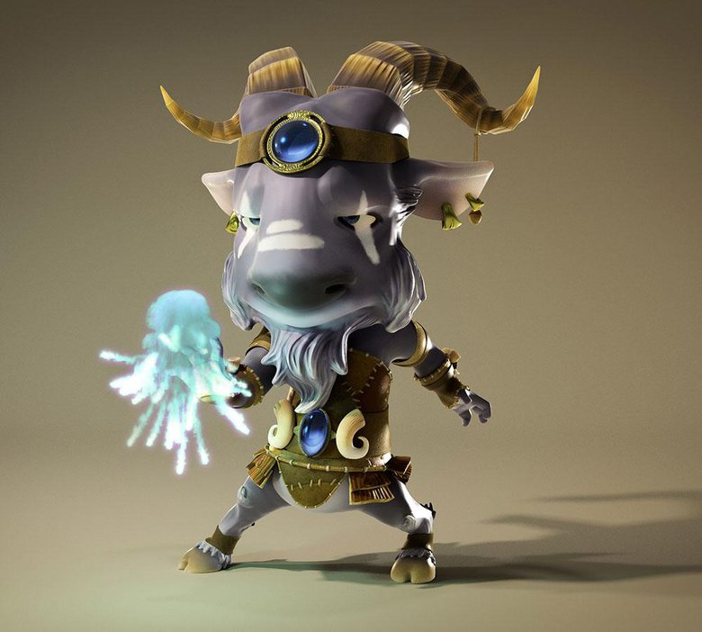 The Goat Sorcerer – personal project for fun