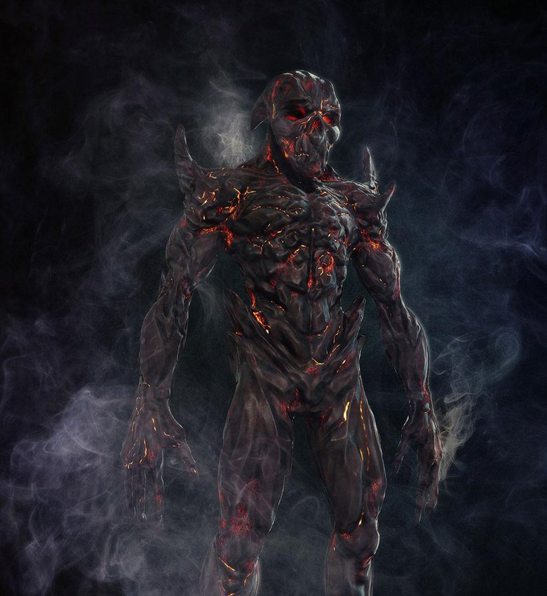 Ember Demon – one of the characters from The Throne, a short movie project