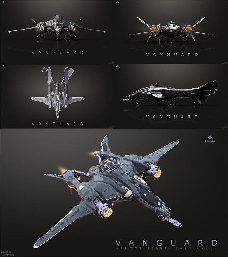 Vanguard, The ship Vanguard for Star Citizen, with the assistance of Elwin Bachiller