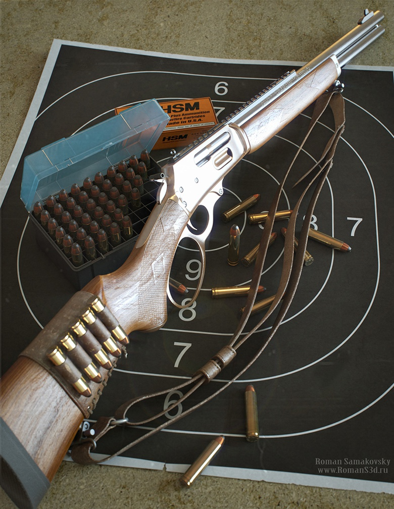 Image caption: Visualization of the hunting carbine Marlin 444
