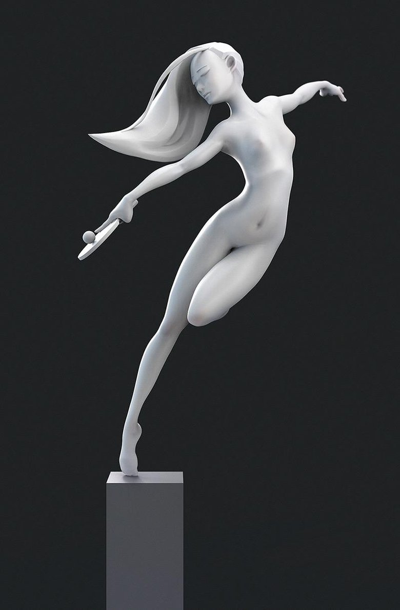 """""""Dancing"""" – an experimental work practicing shape and form"""