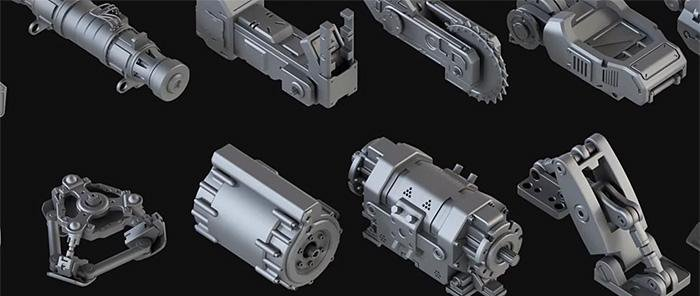 Hard Surface Kitbash Pack 1 · 3dtotal · Learn | Create | Share