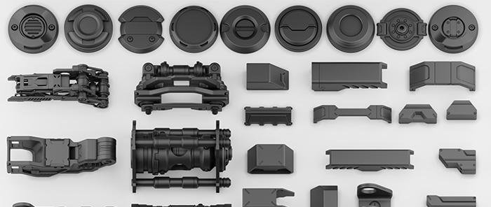 Free Hard Surface Kitbash Collection · 3dtotal · Learn