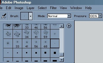 Picture 2: The settings for the airbrush tool