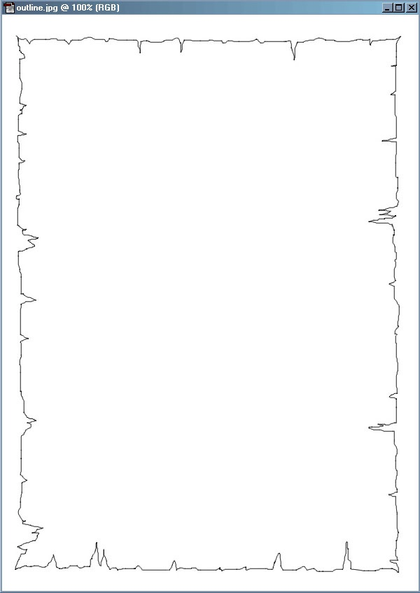 Picture 3: Draw an outline using the airbrush tool