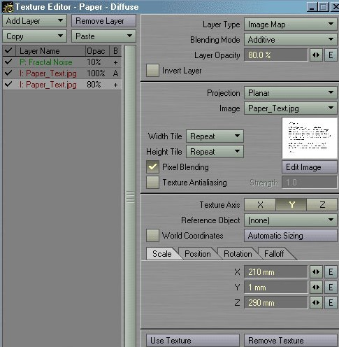 Picture 30: The first Diffuse Channel Texture. Don't forget automatic sizing