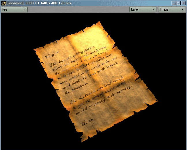 Picture 36: The finished paper texture
