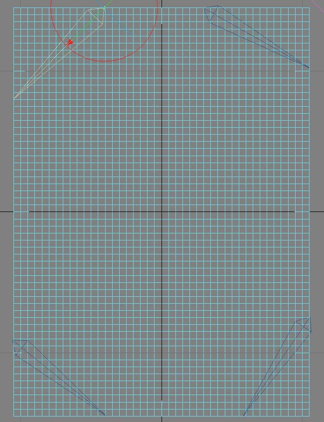 Picture 37: Add 4 bones, one in each corner using Draw Bones