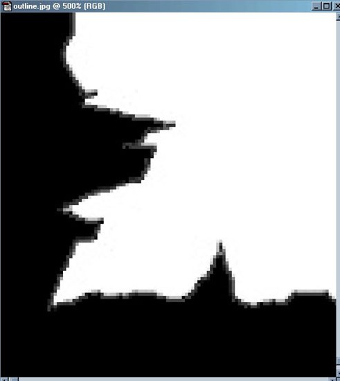 Picture 5: A zoomed in corner; note the AntiAliasing that we need to get rid of