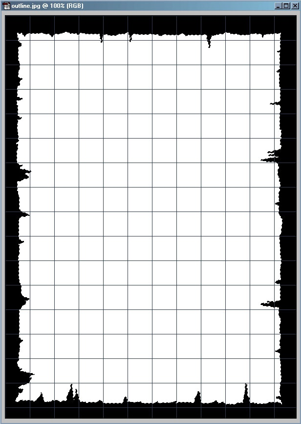 Picture 8: Grid is on, Snap to Grid is off, and the Magic Wand tool has been used